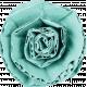 Teal Cardboard Flower