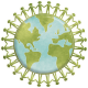 United Globe Sticker