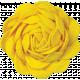 Sunshine and Lemons- Yellow Ric Rac Flower