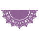 One Stop Bunting Shop- Flag Purple Doily