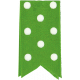 One Stop Bunting Shop- Green Polka Dot Folded Ribbon