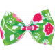 One Stop Bunting Shop- Green Floral Bow
