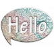 Hello Map Speech Bubble