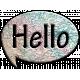 Hello Map Speech Bubble