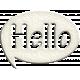 Hello Speech Bubble- Hello