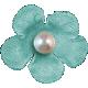 Hello- Teal Flower