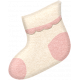 Oh Baby, Baby- Doodled Pink Sock