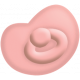 Oh Baby, Baby- Doodled Pink Pacifier