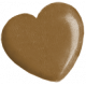 Oh Baby Brown Heart Bead