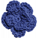 Independence- Blue Crochet Flower