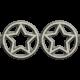 Independence- Metal Star Border