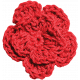 Independence- Red Crochet Flower