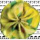 Pond Life- Yellow Fabric Flower 1