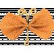 Garden Party- Light Orange Wire Butterfly