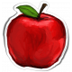 Apples Sticker Red