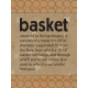Basketball Card 3x4 Basket Orange