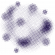 Color Basics Scattered Dots 02 Glitter Purple