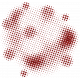 Color Basics Scattered Dots 02 Glitter Red