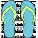 Tropics Flip Flops Blue