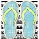 Tropics Sticker Flip Flops Blue