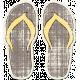 Tropics Sticker Flip Flops Gray