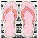 Tropics Sticker Flip Flops Pink 01