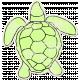 Tropics Sticker Turtle