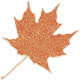 Crisp Fall Air Sticker Leaf 05