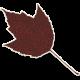 Crisp Fall Air Sticker Leaf 06
