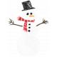 Touch of Sparkle Christmas Snowman