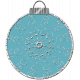 Touch of Sparkle Christmas Ornament Blue 03