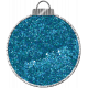 Touch of Sparkle Christmas Ornament Blue Glitter