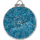 Touch of Sparkle Christmas Ornament Blue Glitter 02