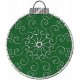 Touch of Sparkle Christmas Ornament Green 03