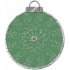 Touch of Sparkle Christmas Ornament Green 04