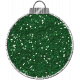 Touch of Sparkle Christmas Ornament Green Glitter
