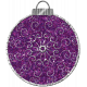 Touch of Sparkle Christmas Ornament Purple Glitter 02