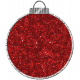 Touch of Sparkle Christmas Ornament Red Glitter