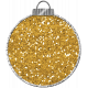 Touch of Sparkle Christmas Ornament Yellow Glitter