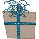 Touch of Sparkle Christmas Snowflake Gift Blue