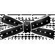 Soccer Ribbon Bow - Black