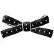 Soccer Ribbon Bow- Black