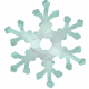 Snow Day Snowflake Teal 002