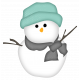 Snow Day Snowman Teal Hat