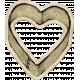 Kitchen Sticker Heart Stained