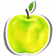 Apples Sticker Yellow