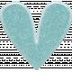 Isla Aqua Acrylic Sparkle Heart