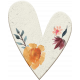 ::Retro Holly Jolly Kit:: Floral Chipboard Heart