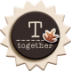 "::Fall in Love Kit:: Layered Chipboard ""Together"" Badge"