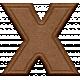 "Rebecca Kit: Wooden ""X"""